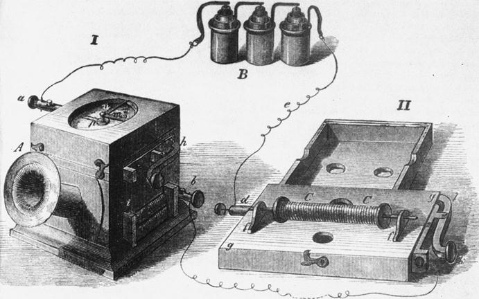 Prvi delujoč električni telefon Filipa Reissa