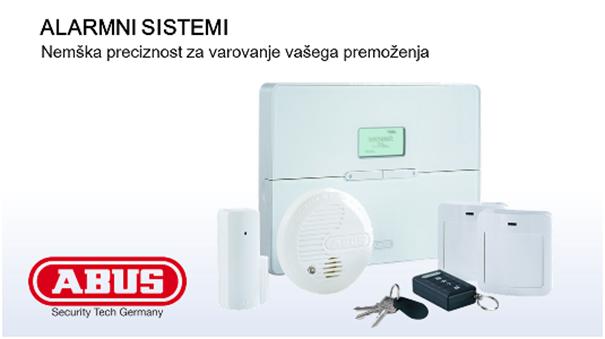 Alarmni sistem ABUS za stanovanje, hišo ali pisarno