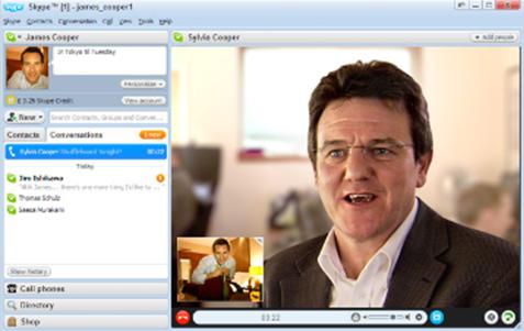 Integracija IP telefonije z internetno Skype telelefonijo