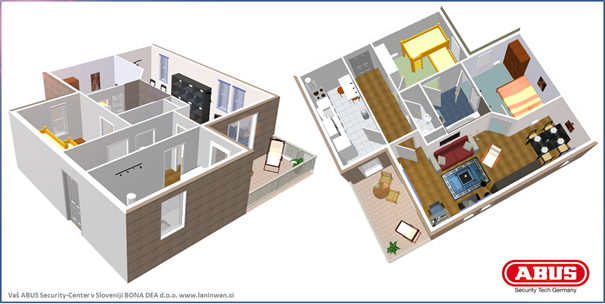 Alarmni sistem ABUS Secvest 2WAY za stanovanjski apartma