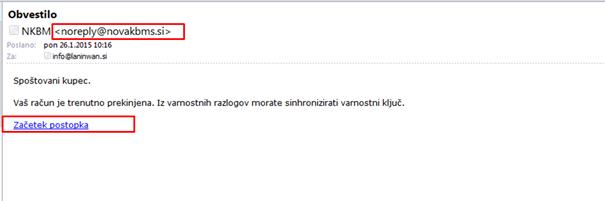 Izgled zlonamerne e-pošte