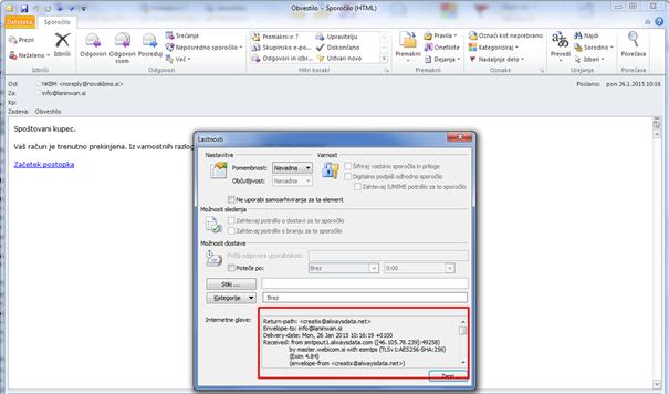Analiza zlonamerne e-pošte