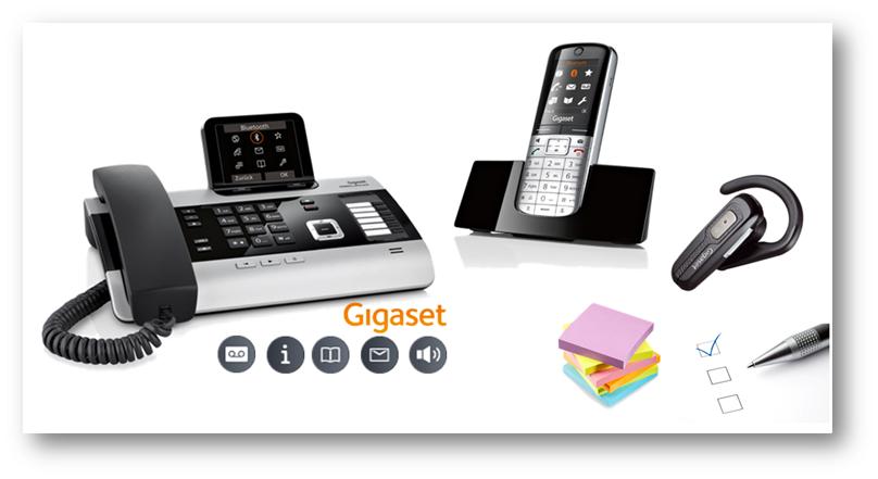 Gigaset komplet telefonije za pisarne in mala podjetja