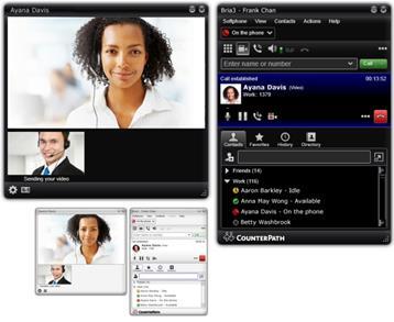 CounterPath Bria VoIP telefon za PC