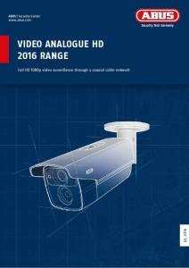 Katalog ABUS Analogue HD 2016 Range