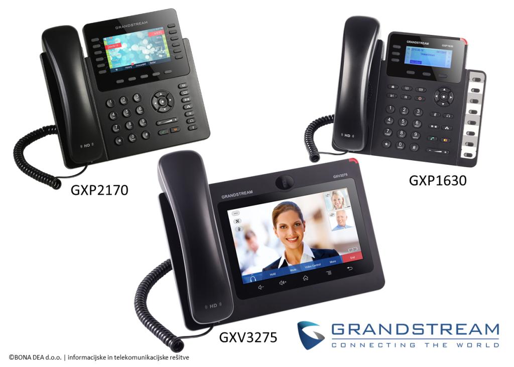 Poslovna telefonija Grandstream VoIP telefoni